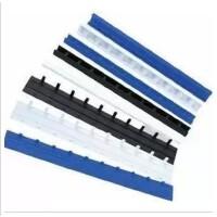 装订耗材 装订夹条 蓝色白色黑色10孔塑料夹条3MM-35MM