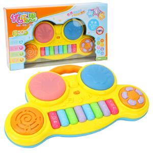 宝宝电子琴手拍鼓婴儿玩具 多功能早教讲故事 儿童音乐可发光益智玩具