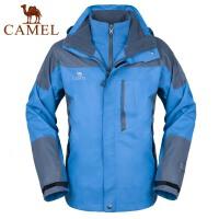 camel骆驼户外冲锋衣 秋冬 男款 含抓绒内胆两件套 三合一 保暖冲锋衣