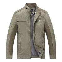 2016秋季男士小立领休闲时尚外套 简单休闲男式中年男装夹克