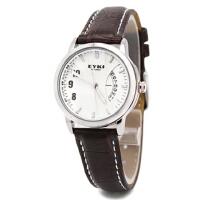 2017新款 EYKI艾奇 韩版时尚夜光日历手表 之女表 8408 白棕色