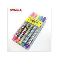 韩国文具 批发 泡泡笔 爆米花笔 DIY立体涂鸦膨胀笔5支装JB4080