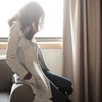 实拍2016秋季新款女装时尚双色毛呢双排扣韩版女式毛呢大衣