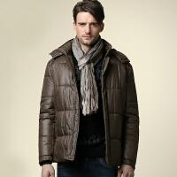AmCAMEL 骆驼男装 新品男士可脱卸帽棉衣休闲保暖棉服外套