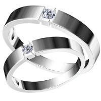 梦克拉  约定 情侣戒 白18K金戒指 钻石对戒 求婚戒女戒 创意礼品