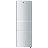 海尔(Haier)BCD-206STPQ 冰箱 206升 三开门软冷冻冷藏家用节能电冰箱