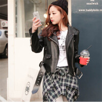冬季新款韩版时尚假两件套格子衬衫裙裤加绒加厚九分打底裤