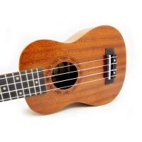 支持货到付款 Vorson ukulele 21寸小四弦琴 初学 入门 小四弦 夏威夷成人小吉他 音孔雕刻 乌克丽丽 尤克里里 U1  沙比利背侧板 玫瑰木指板 乌克丽丽 ukulele  送 ( 尤克里里琴套 + 3个拨片 + 教程一本)