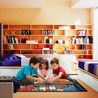 惠多 休闲地毯 飞行棋游戏地毯 100*130厘米时尚客厅卧室  儿童 休闲地毯  块毯 爬行毯