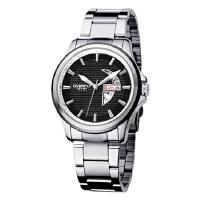 2017年新款 EYKI艾奇 时尚流行手表 钢带表 日历星期双显 男士手表 8530 黑色