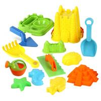 橙爱 沙滩玩具套装 小孩戏水挖沙工具13件套 儿童宝宝益智玩具