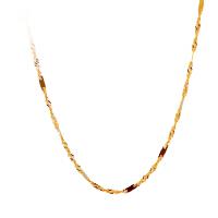 【周大福佳礼 可礼品卡购】周大福官方18K黄金扭纹项链定价 E103873