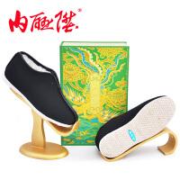 内联升 女棉鞋 十字手工千层底羊毛安棉 时尚 北京布鞋 8415