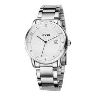 艾奇(EYKI)商务休闲日历情侣表 复古钢带时尚简约时装手表
