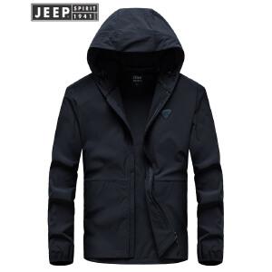 战地吉普AFS JEEP春秋薄款飞行夹克 户外夹克外套 轻薄单款夹克 运动户外薄款外套