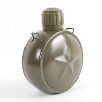 304不锈钢镀铜军用水壶 户外运动水壶 保温旅行壶随身挂带水壶 军绿色 800ml