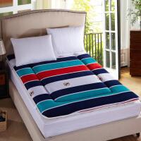加厚榻榻米床垫1.5m学生宿舍床褥子海绵珊瑚绒法莱绒单人双人垫被1.8米