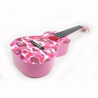 vorson 23寸 粉色迷彩 尤克里里 ukulele 小四弦琴 四弦尤克里里 乌克丽丽 ABS材质 (送:背包+教程+拨片) AUP-24-56