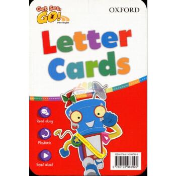 牛津tpr教学幼儿3-6岁英语教材 get set go letter cards 发声凹凸