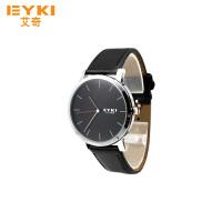 2017年新款 EYKI艾奇 新款 简约潮流表盘 时尚皮表带 男士时装手表 8410 黑色
