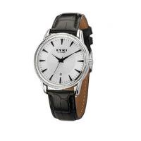 2017年新款 EYKI/艾奇  休闲皮带商务情侣手表之男表 8463 白盘黑带