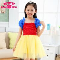 六一儿童演出服装夏季女童白雪公主连衣裙女童礼服裙灰姑娘婚纱