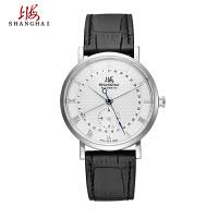 上海手表男透底防水精钢真皮581男士全自动上海牌手表机械表男表