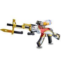 宜佳达 玩具枪 可充电 可发射水晶弹子弹 连发软弹 电动狙击枪玩具 苍龙312