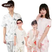 金丰田夏季短袖卡通亲子装儿童节 礼品家居服套装1376