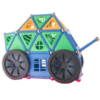 科博磁力棒 儿童早教益智玩具 拼插建构 智力开发玩具 磁力玩具礼物 780件手提工具箱