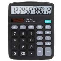 (先领券再下单 立减30元)得力计算器837经济型太阳能双电源计算机财务专用大按键办公
