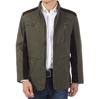 2016秋季冬装新品男士休闲时尚外套 小立领英挺个性男式中长中年男装夹克