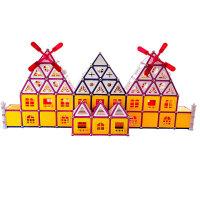 科博 磁力棒儿童早教益智玩具 拼插建构玩具 智力开发玩具 磁力玩具 礼物 418件桶