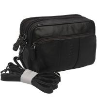 男士腰包小跨包手机包软牛皮腰包户外休闲包穿皮带腰包