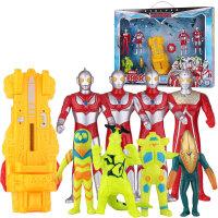 锐视 奥特曼+战机 vs怪兽混合组合套装 咸蛋超人小孩儿童玩具 1141201-02组合*