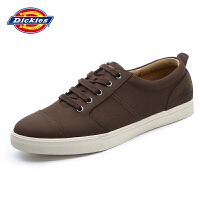 Dickies男鞋真皮低帮板鞋简约系带圆头运动休闲鞋161M50LXS61