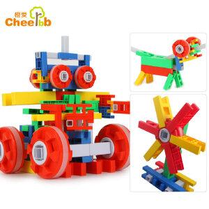 橙爱 启智未来星积木 乐高式塑料拼搭 动手动脑 儿童益智玩具