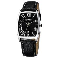 2017年新款 EYKI艾奇 时尚酒桶型日历手表 罗马刻度 手表 女士手表 黑色 8546