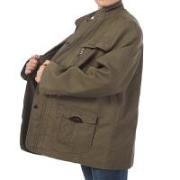 2016秋冬新品男士爸爸装外套 简约加大加肥中长男式中年男装夹克