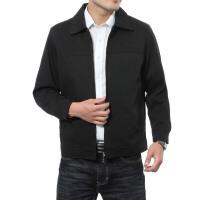 2016春装新款男装外套黑色基本款百搭男士夹克衫