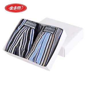 金丰田男士加大码棉质三角内裤 肥佬裤3030两条装混色