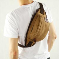 户外运动斜背包 时尚男士帆布包胸包休闲斜挎包  韩版男包腰包学生小包包