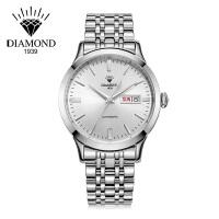 上海钻石牌手表男全自动机械男表大表盘日历精钢8030男士钻石手表