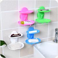 镂空强力吸盘沥水肥皂盒香皂盒创意浴室壁挂式香皂架肥皂架