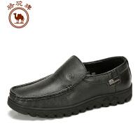 骆驼牌 秋冬新款男鞋子 套脚日常休闲男士皮鞋 耐磨