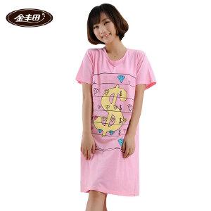 金丰田女士夏季短袖宽松卡通睡裙1371
