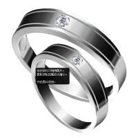 梦克拉 白18K金戒指 怀抱  钻石对戒 创意礼品