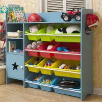 瑞美特玩具收纳架多功能带书柜儿童玩具架收纳架玩具收纳柜超大