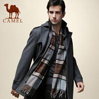 CAMEL 骆驼男装 冬季新款 骆驼羊毛呢大衣 商务休闲保暖外套