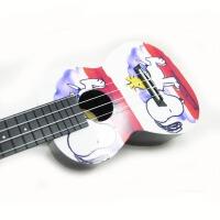 支持货到付款 Vorson  彩印 23寸 C型 ukulele 尤克里里   标准弦长 乌克丽丽 ukulele 小四弦专业音准 夏威夷小吉他   送(琴套+3个拨片+教程一本) 黑色  白色 卡通 宠物系列 AUP-24-40